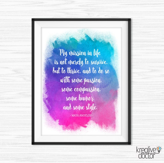 TimPrint Maya Angelou Quote Literary Print Chalkboard Quotes Office Wall Art Motivational Wall Decor Inspirational Cubicle Decor Framed print