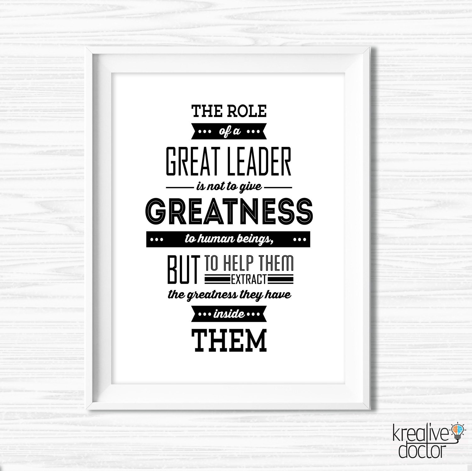 Leadership Quotes For Office Wall Art Motivational Wall Decor Etsy