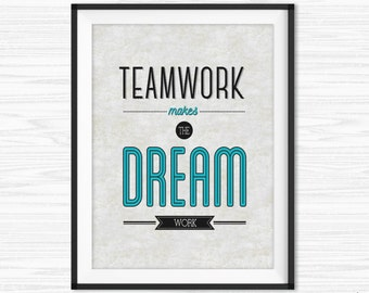 Office Teamwork Quotes Wall Art Printable Success Quotes Motivational Wall Decor Office Wall Quotes Inspirational Quote Print For Work