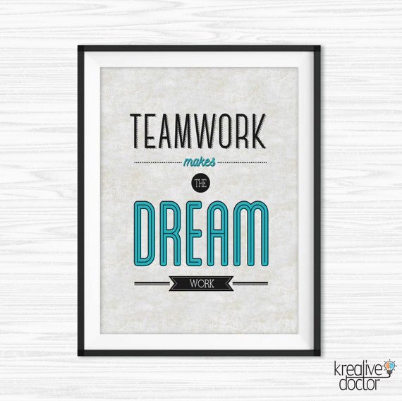 Teamwork Quotes For The Office Office Teamwork Quotes Wall Art Printable Success Quotes | Etsy Teamwork Quotes For The Office