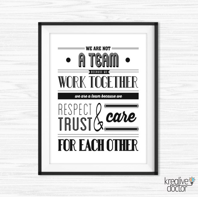 Teamwork Quotes Work Magnificent Teamwork Quotes For Office Wall Art Printable Success Quotes Etsy