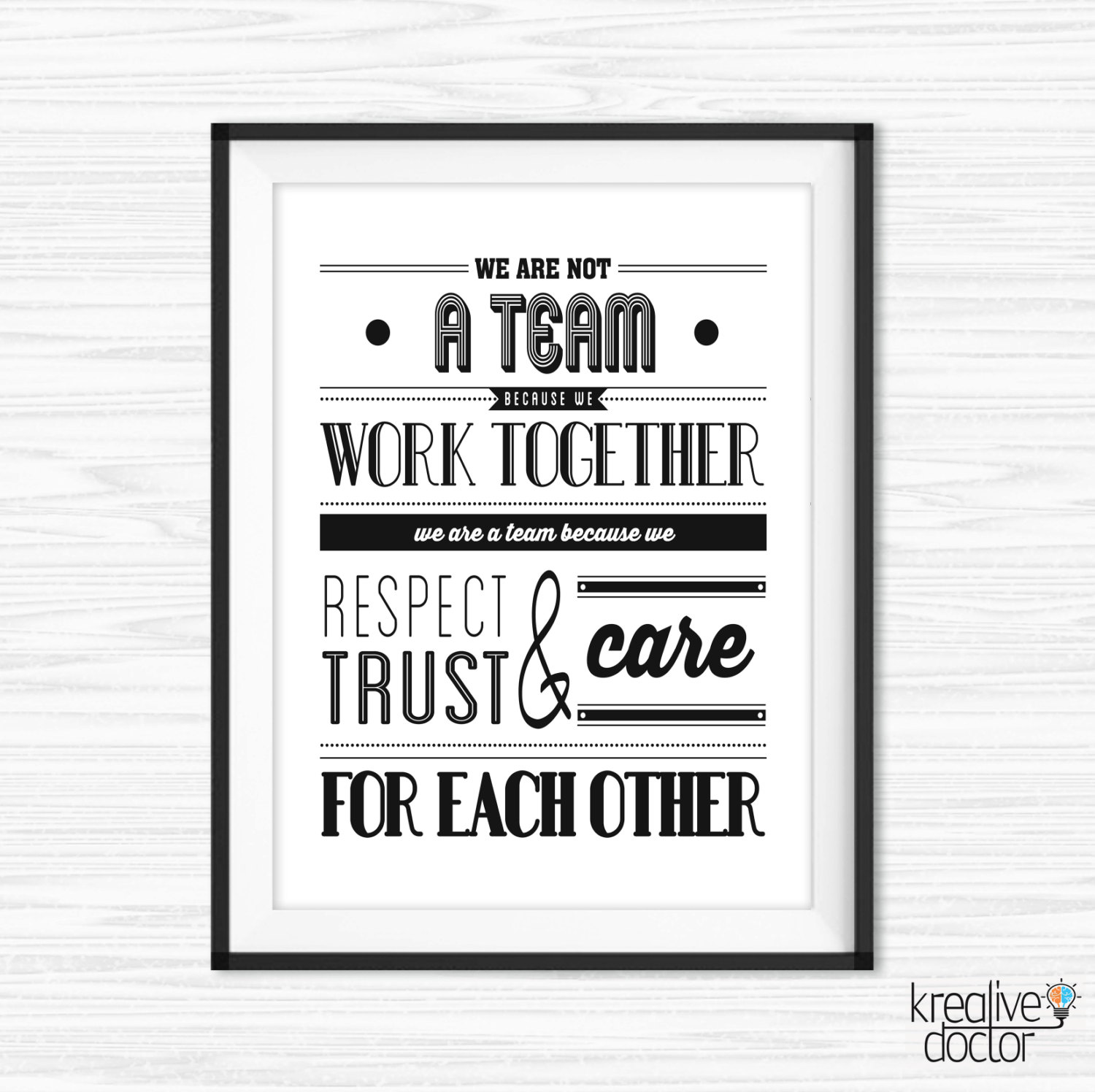 Teamwork Quotes For Office Wall Art Printable Success ...