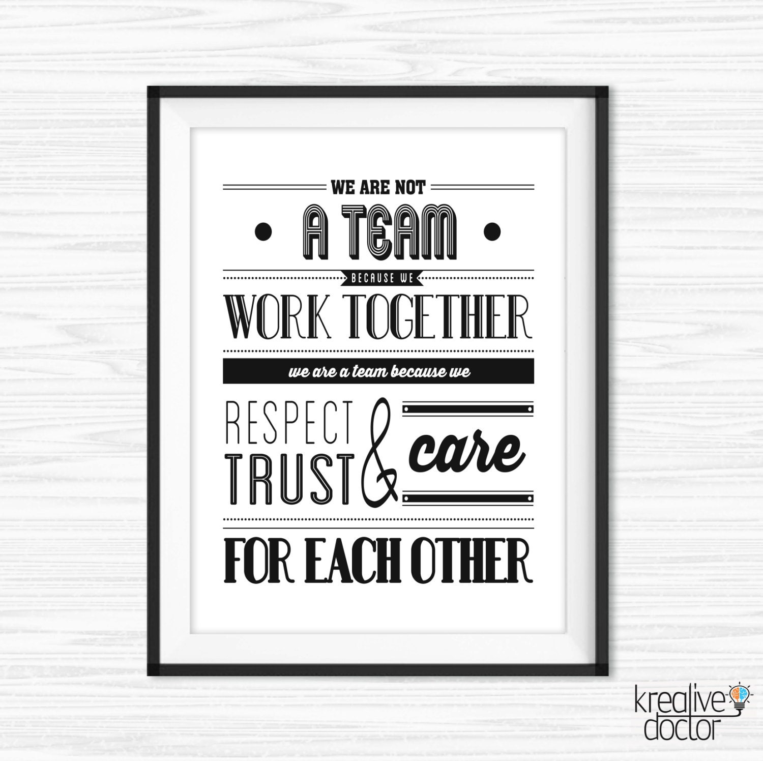 Teamwork Quotes For Office Wall Art Printable Success Quotes Etsy