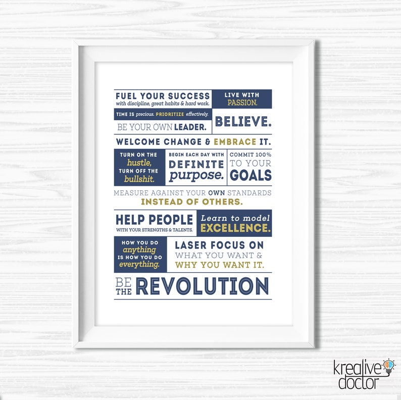 Success Quotes Office Wall Art Motivational Wall Cubicle Decor Etsy