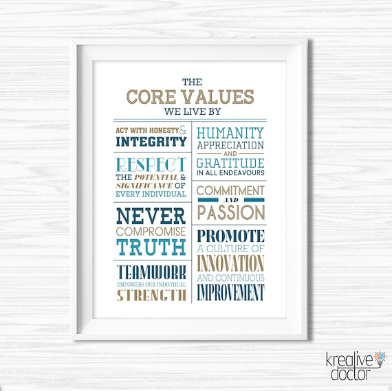 Teamwork Quotes For Office Inspirational Office Wall Art Motivational Wall  Decor Printable Office Decor Core Values Poster Cubicle Decor