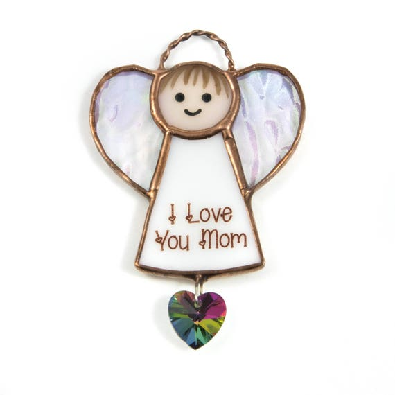 Cute Christmas Gift Ideas For Mom.Birthday Gift For Mom Gift Ideas For Mom From Daughter Small Gift For New Mom Cute Christmas Gift For Mom Stained Glass Angel