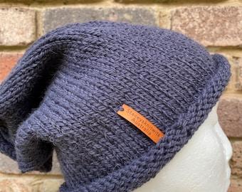 Grey Ragg Crochet Hat Crochet Beanie White Grey Tam Grey Bobble Hat Salt Pepper Beanie Gray Slouch Hat