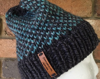 5bfeeac231576 Knitted grey slouchy beanie