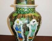 30 off Attributed Kangxi period Chinese Wucai porcelain enamel top glazed eight immortal 39 s wisemen in bamboo竹林八仙冷三彩