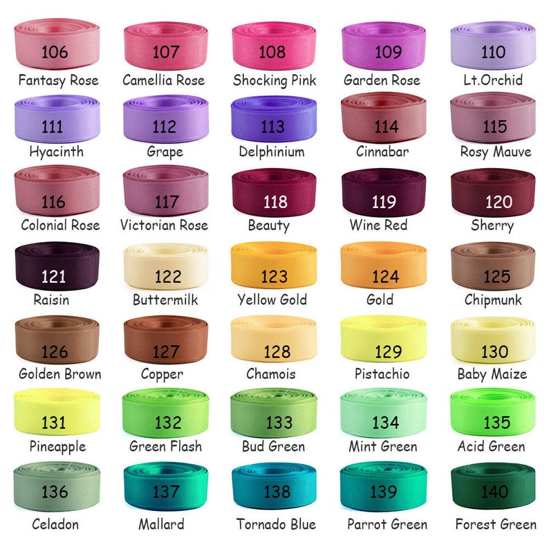 """35 Plain Coloured Double Sided Large Grosgrain Ribbon 3//4/"""" inch 19mm - 20mm"""