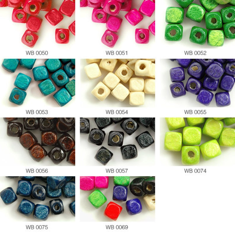 50pcs Wooden Wood Oval Loose Spacer Beads with Hole for Bracelet Jewelry Making