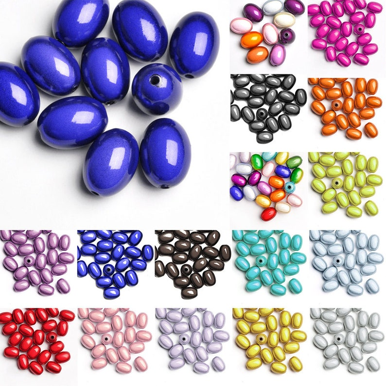 10//50pcs Acrylic Miracle Beads Illusion Teardrop 22.5x12x12mm//29x9x9mm//10x6x6mm