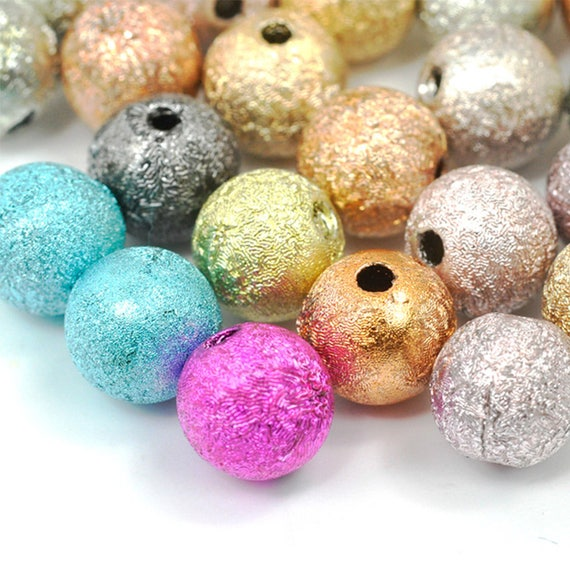 40pcs Round Illusion Miracle Beads Acrylic DIY Spacer Beads  8x8x8mm Silver