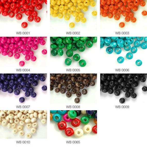400pcs Approx 30g Wooden Spacer Wood Beads Rondelle 3x6mm WBSET04B