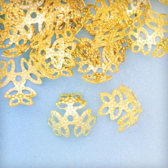 20g Filigree Beads Caps Jewelry Flower DIY Jewelry Makings Beading Supplies HC