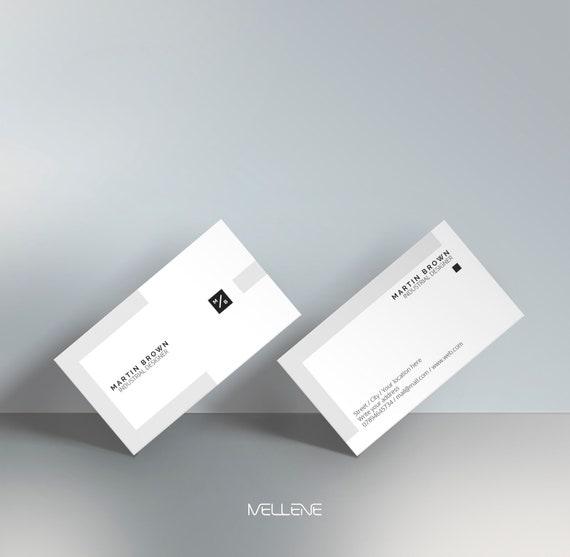 Visitenkarten Vorlage Für Adobe Photoshop Psd Datei Minimalistische Sauber Elegant Doppel Einseitig Gestaltung Voll Einstellbar