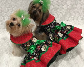 winter wonderland christmas dog dress by little paws boutique