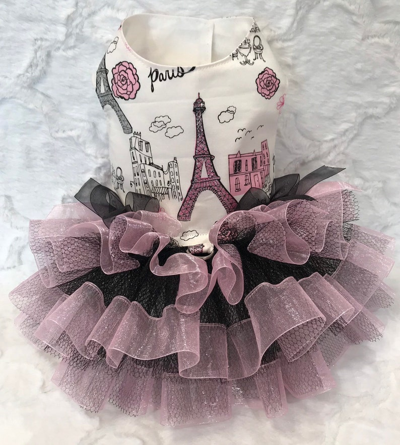 Eiffel tower Dog dress By Little Paws Boutique