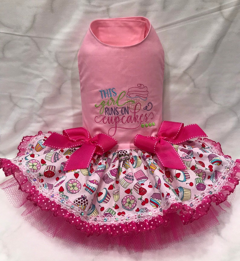 Run In Cupcake Dog Dress By Little Paws Boutique