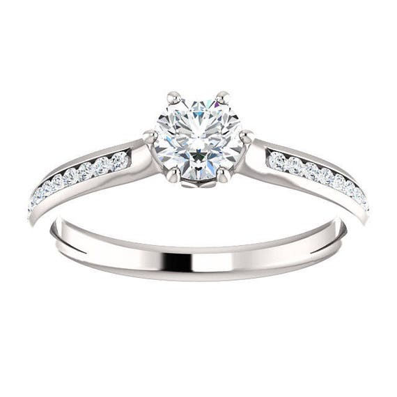 7e78c519a9e6 3 4 ctw Carat Total Weight Diamond Engagement Ring 6 Prong