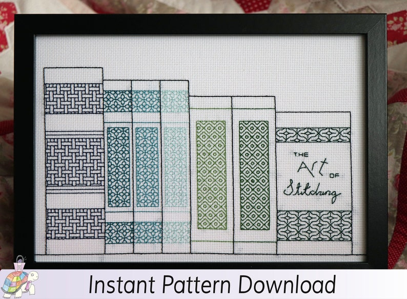 The Art Of Stitching Coloured Blackwork Instant Download PDF image 0