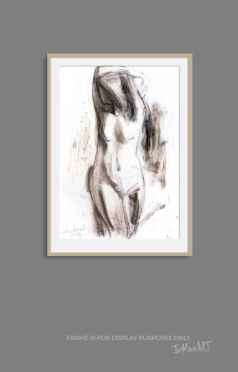Nude charcoal sketch