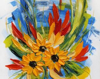 Sunflower Wall Art | Etsy