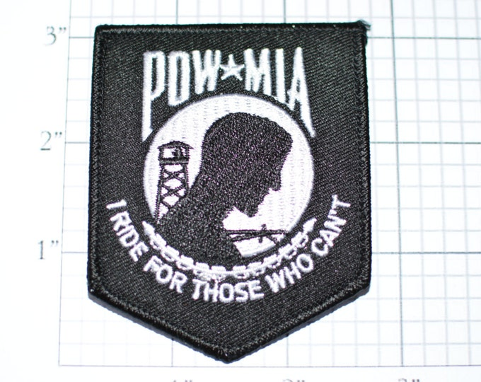 POW MIA Patch, I Ride for Those That Can't, Biker Patch, Motorcycle Patch, War Hero Patch, Memorial Day, Veterans Day, Remembrance oz1