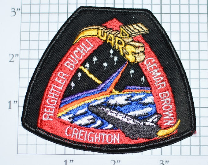 Rare STS-48 Space Shuttle Discovery UARS Mission Patch NASA Embroidered Iron-on Patch Collectible 1991 Jacket Patch Uniform Patch e20w