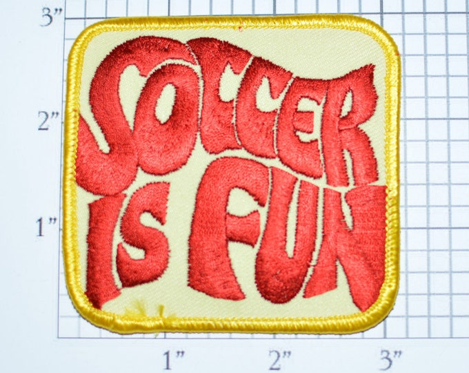 Soccer is Fun, Iron-on Patch Embroidered Clothing Patch Sports Jacket Patch Vest Patch Jersey Patch Shirt Patch Hat Patch Kids League s2