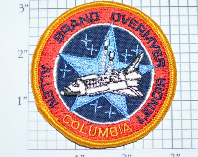 Rare STS-5 Space Shuttle Columbia Mission Patch NASA Embroidered Iron-on Patch Collectible 1982 Jacket Patch Uniform Patch e20w