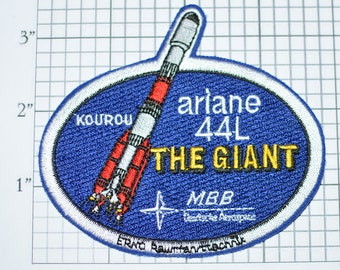 Mint MBB Ariane 44L The Giant Orbital Launch System Iron-on Patch Collectible Patch Uniform Patch Jacket Patch Hat Patch Shirt Patch e22h