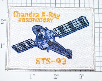 Mint STS-93 Space Shuttle Columbia Chandra X-Ray Observatory Mission Patch NASA Embroidered Iron-on Patch Collectible Uniform Patch e22f