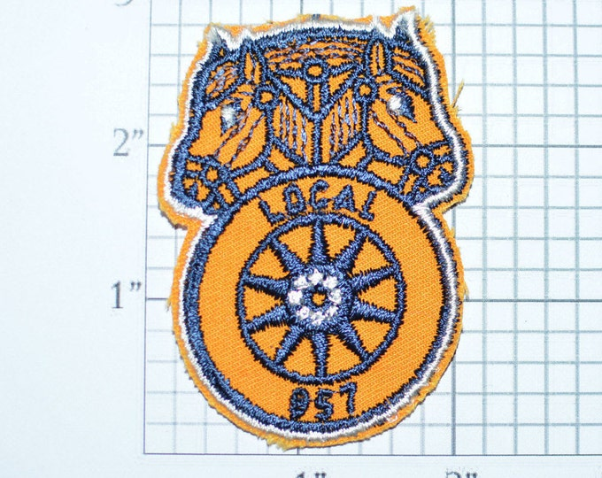 International Brotherhood of TEAMSTERS - Vintage Sew-On Patch - IBT - Labor Union Local 957 Dayton Ohio Collectible Memorabilia