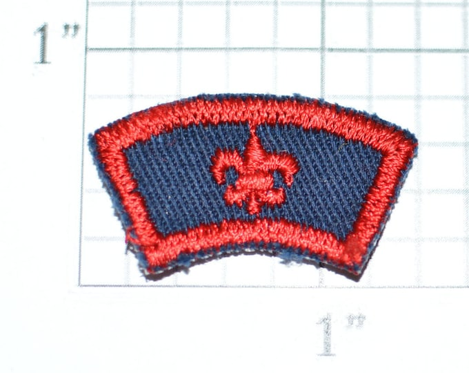 Boy Scouts Fleur De Lis Logo Small Vintage Embroidered Sew-on Clothing Applique Patch Rocker Tab Cub BSA Uniform Shirt Vest Hat Emblem e28Q
