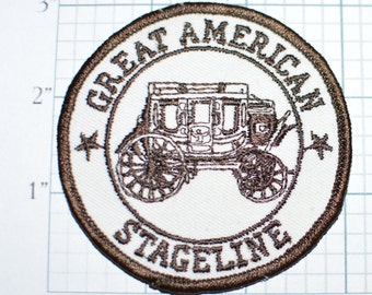 Great American Stageline - Ultra RARE Sew-On Vintage Patch Stage Coach Excellent Condition Jacket Patch Wild West Vest Patch Hat Patch e10a