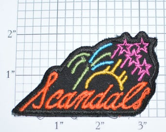 SCANDALS Vintage Sew-On Embroidered Patch Shirt Patch Jacket Patch Hat Patch Vest Patch Backpack Patch Clothing Patch e22a