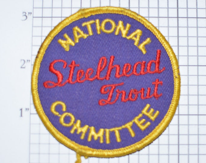 National Steelhead Trout Committee Sew-On Vintage Embroidered Patch Jacket Patch Backpack Patch Hat Patch Shirt Patch Fishing Fish e22d