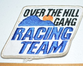 Over the Hill Gang Racing Team Sew-on Patch Vintage Patch Embroider Patch Jacket Patch Jeans Patch Backpack Patch Embroidery Applique e3