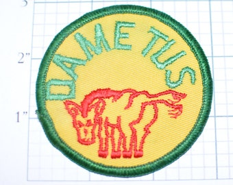 DAME TUS (Spanish) Give Me Your Ass - Sew-On Vintage Patch - Funny Sexy Playful Flirtatious Butt Jacket Patch Vest Patch Biker Patch e9g
