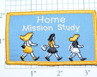 Home Mission Study Vintage Embroidered Clothing Patch Jacket Patch Jeans Patch Vest Patch Backpack Patch Christian Patch Home School e22a