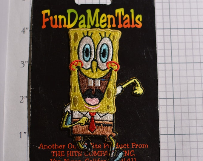 SpongeBox Squarepants (Original Packaging) Embroidered Iron-on Patch Licensed Authentic Merchandise Jeans Jacket Patch Backpack Patch e20d