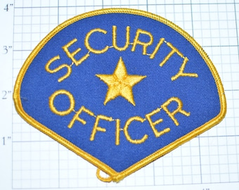SECURITY OFFICER Iron-on Vintage Embroidered Patch Uniform Shirt Jacket Guard Bodyguard Bouncer Officer Cop Patrol DIY Cosplay Costume e17d