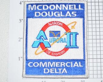 McDonnell Douglas Commercial Delta Aurora II NASCOM Iron-on Patch Collectible Patch Uniform Patch Jacket Patch Hat Patch Shirt Patch e22g