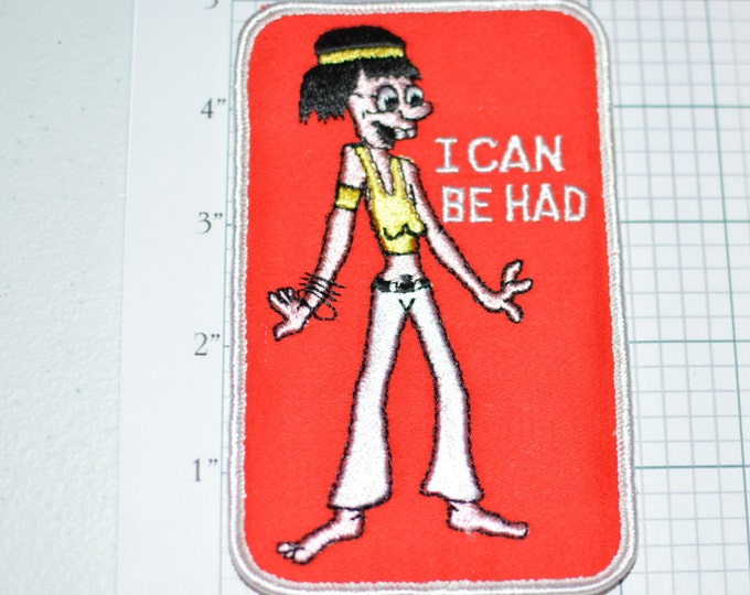I Can Be Had - Naughty Adult Innuendo Icebreaker Sew-On Vintage Patch Jacket Patch Jeans Patch Embroidered Patch Fun Funny Flirty Sexy s9
