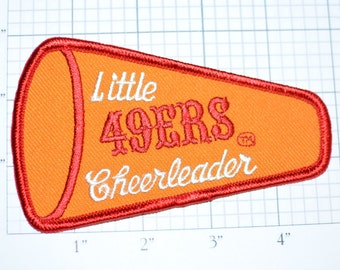 Little 49ers Cheerleader NFL Football VERY Rare Iron-On Vintage Patch Licensed San Francisco California Cute Newborn 1970s  d12