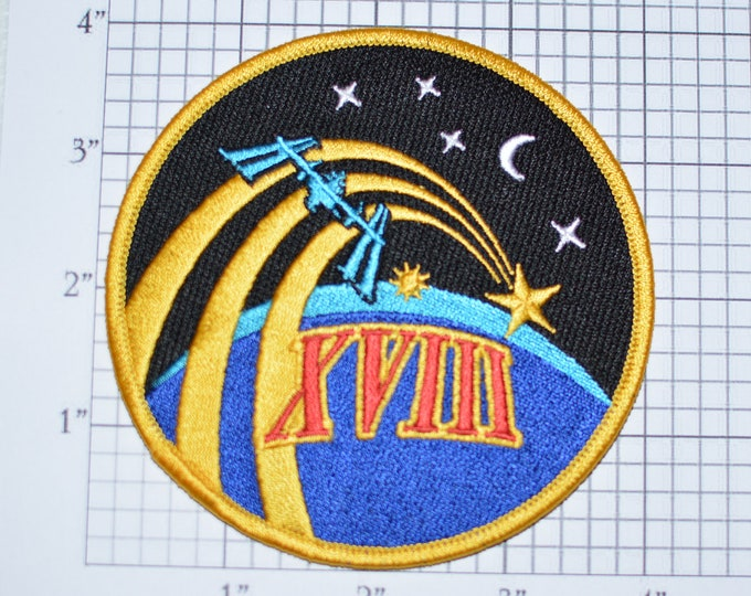 Mint Expedition 18 XVIII ISS TMa-13 Mission Patch NASA Embroidered Iron-on Patch Collectible Patch Uniform Patch e22g