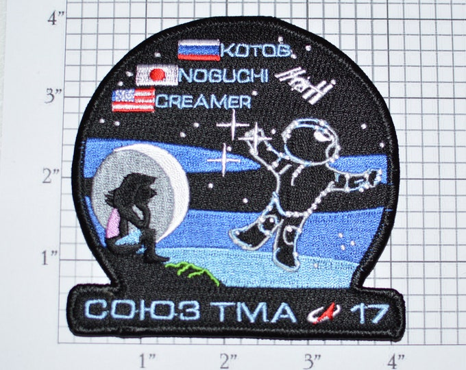 Soyuz TMA 17 Russia Japan USA Mission Iron-on Patch Collectible Patch Uniform Patch Jacket Patch Shirt Patch e22i