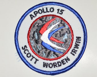 Mint Apollo 15 XV Vintage Embroidered Clothing Patch NASA Space Mission Aerospace Collectible Memorabilia Astronaut Collector Gift Idea f1z