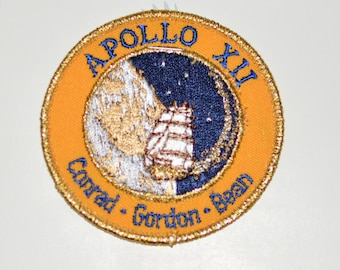 Mint Apollo 12 XII Vintage Embroidered Clothing Patch NASA Space Mission Aerospace Collectible Memorabilia Astronaut Collector Gift Idea f1z
